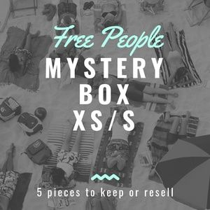 Free People 5 Piece Mystery Resell Box. XS/S